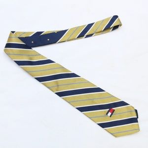 """90's Vintage """"TOMMY HILFIGER"""" Silk Stripe Slim Tie"""